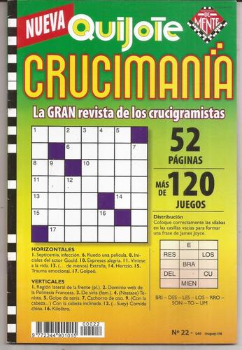 3 Revistas De Crucigramas  Crucimania Quijote Nuevas