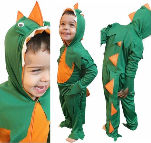 Fantasia Dinossauro Infantil Criança Longo Envio Imediato