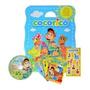 Coleção Infantil Cocoricó Com 8 Livros Dvd E Adesivos
