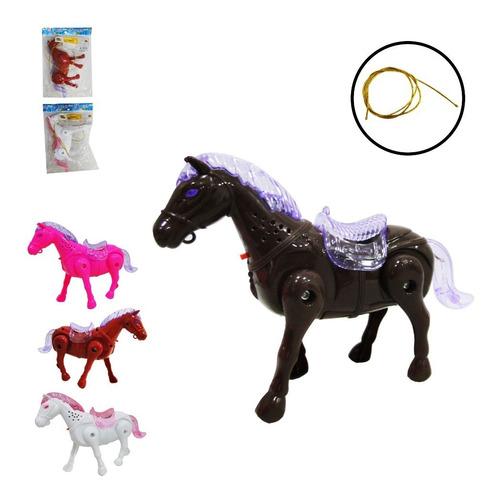 Cavalo De Brinquedo C/ Som E Luz Musical Anda Animal Fazenda