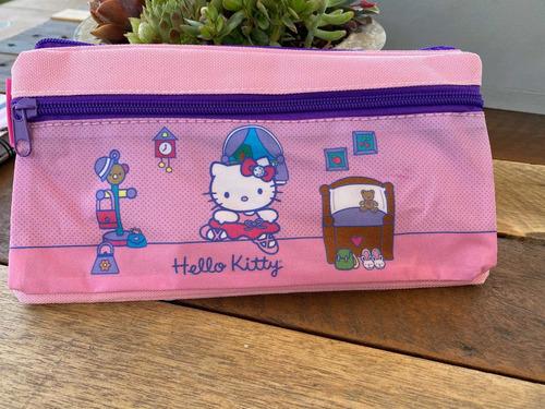 Estuche Hello Kitty Rosado 2 Cierres