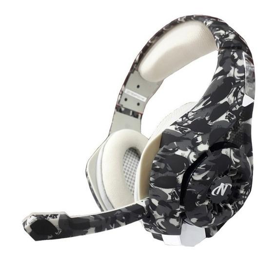 Auriculares gamer Nisuta NSAUG300C gris camuflado