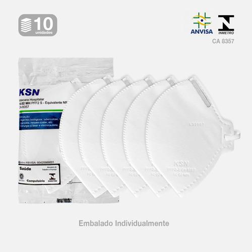 10 Mascaras Pff2 N95 Ksn Proteção Anvisa Inmetro Hosp Full