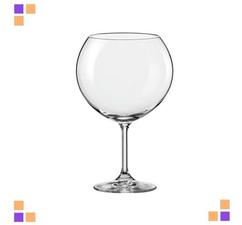 Set X 4 Copa Brandy Coctel Copon Bohemia Crystal 1050 Ml