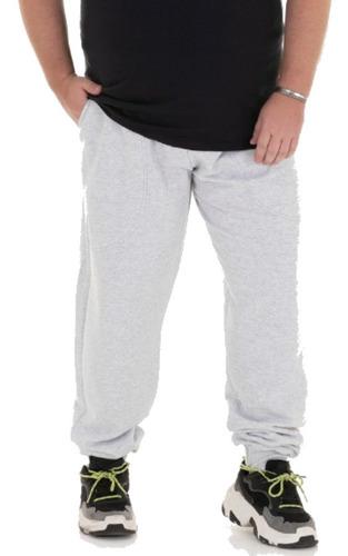 Calça De Moletom Plus Size Masculina Com Punho 100% Algodão