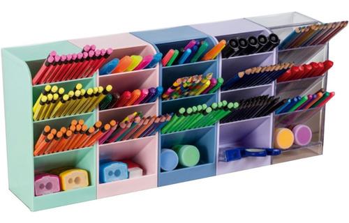 Organizador Diagonal Porta Caneta Multiuso Mesa Bancada