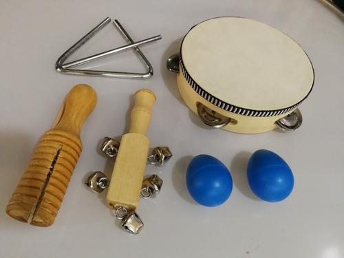 Set Percusion Banda Ritmica 5 Elementos Nuevos Sin Packaging