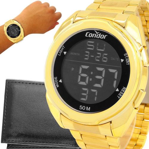 Relógio Masculino Dourado Condor Ouro 18k Garantia Original