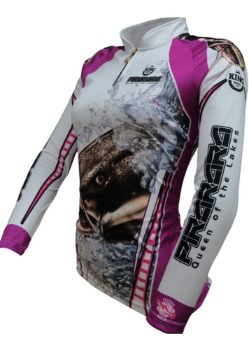 Camisa Feminina Pesca, Prot. Uv50 Kff-401 (tam M)+brinde+nfe