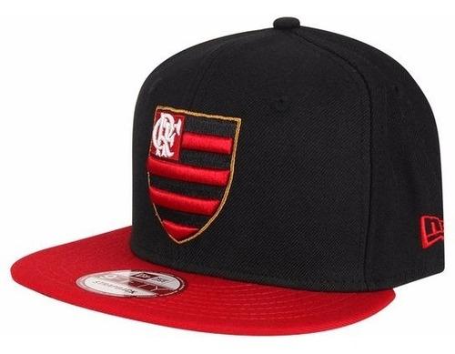 Bone Flamengo New Era 950 Aba Reta Strapback Fifty Rubro Neg