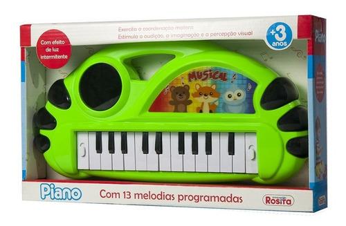 Piano Infantil Com 13 Melodias Programadas Rosita