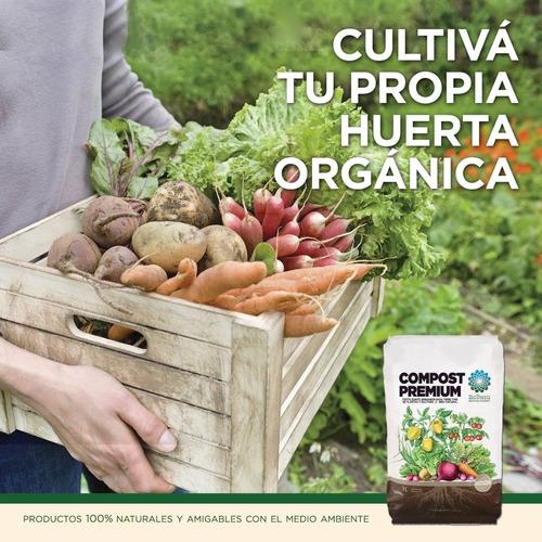 Compost Premium Fertilizante Orgánico Bolsa 7 Lts. Bioterra