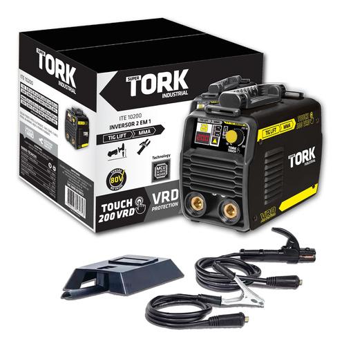 Maquina De Solda Inversora Tig Mma Touch 200 Amp Vrd Tork
