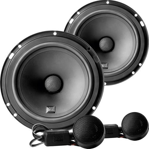 Kit Duas Vias Nar Audio 600 Cs1 ( 6 Pol. - 100w Rms ) Full
