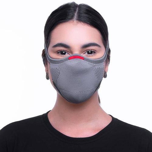 Máscara De Proteção Fiber Knit 3d Esporte Fitness + 1 Refil