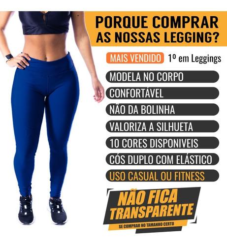 Calça Legging Suplex Feminina Moda Fitness Pronta Entrega