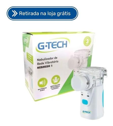 Nebulizador Inalador Rede Vibratoria Branco Nebmesh1 Gtech