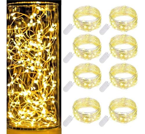 Tira De 20 Luces Led Decorativas  De 1 M, 8 Unidades