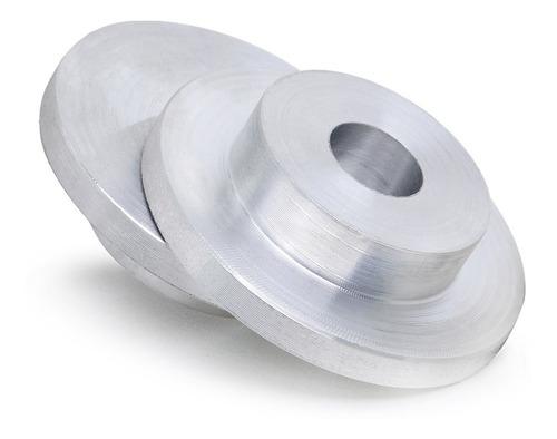 2 Flanges De Alumínio P/ Rebolo Esmeril Afiação Ø31,8x1/2