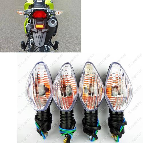 4 Piscas Seta Moto Mod Bros 150 13 Cristal Cg Cb 300 Xre
