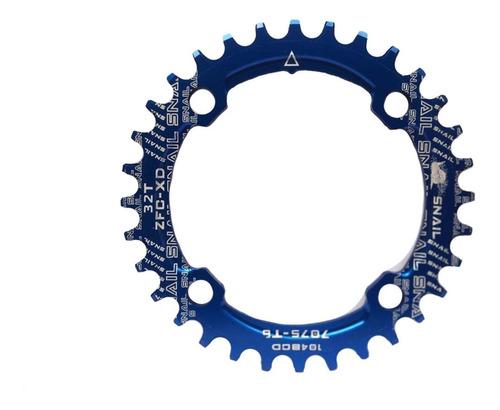 Coroa Única 32t Para Pedivela De Bicicleta Bcd 104mm 4 Furos