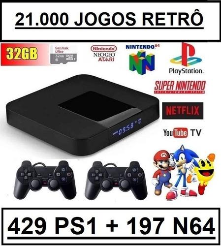 Vídeo Game Retro 21.000 Jogos Clássicos +2 Controles Psx Usb