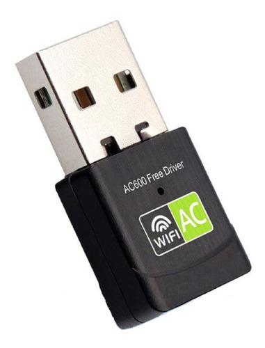 Adaptador Wifi Usb 600mbps Tarjeta Red Dual Banda 2.4 Y 5ghz