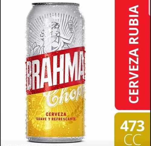 Cerveza Lata Brahma X 473c. 10p