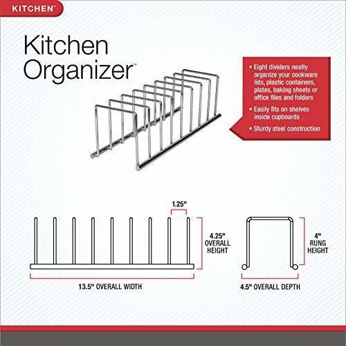 Contemporary Chrome Kitchen Organizer - Ecart