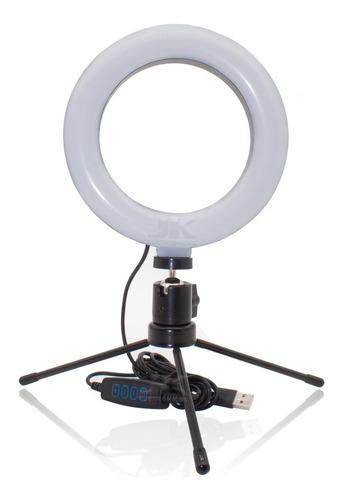 Ring Light Iluminador Anel Luz Led Selfie Com Tripé