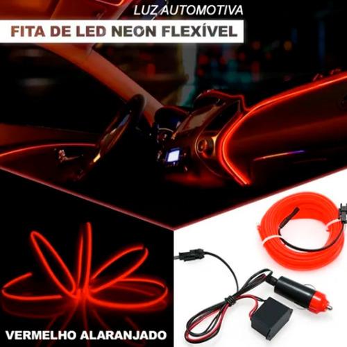 Fita De Led Tipo Neon Painel Carro 5 Metros Varias Cores