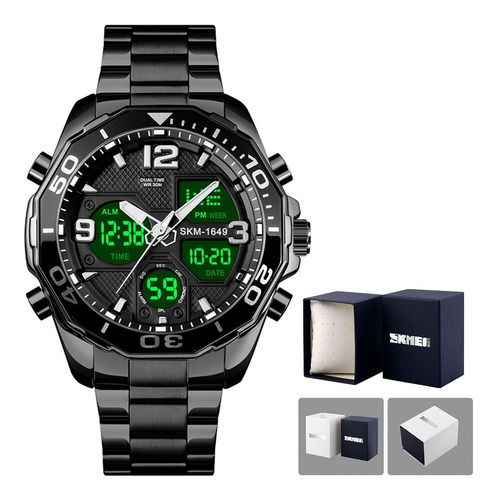 Relógio Masculino Skmei 1649 Digital Esportivo Luxo Moda Nf