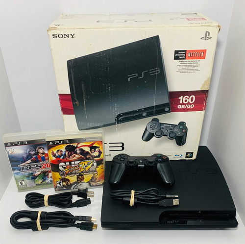 Playstation 3 Slim 160 Gb Sony Ps3 Game Controle Jogo