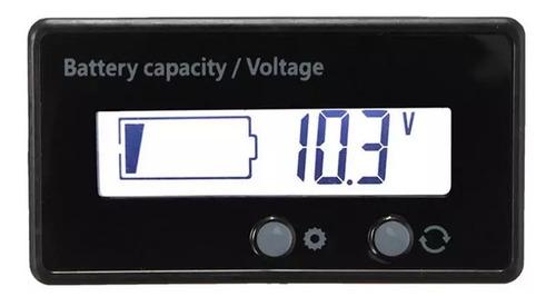 Voltímetro Dc 12v 24v 36v 48v Medidor De Porcentagem E Da Carga Bateria Sistema Solar / Carro / Som Automotivo