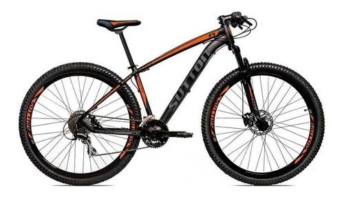 Mountain Bike Sutton New Aro 29 17  24v Freios De Disco Hidráulico Câmbios Shimano Y Shimano Altus Cor Preto/laranja/prateado