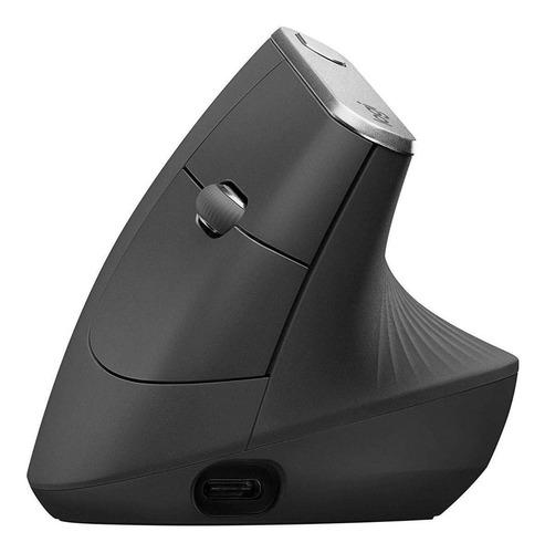 Mouse Vertical Inalámbrico Recargable Logitech  Mx Vertical Negro
