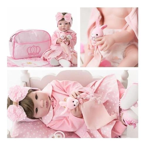 Bebê Reborn Menina Original 100% Silicone