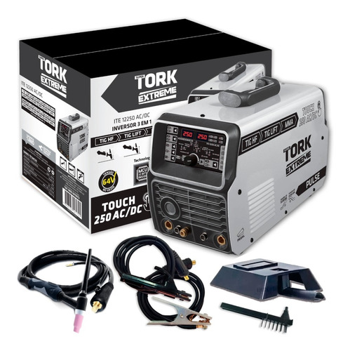 Maquina Solda Inversora Mma Tig Acdc 250 Amp Aluminio Tork