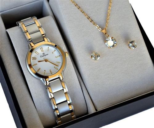 Relógio Champion Feminino Prata  Dourado  Original