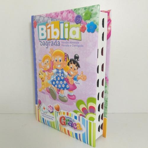 Bíblia Da Turminha Da Graça Infantil Ilustrada Rosa C/indice