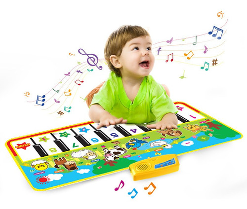 135x58cm Tapete Musical Animal Piano Jogando Tapete