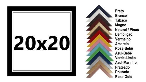 Quadros Decoração P/ Sala   Kit Com 4 Molduras 20x20 C/vidro
