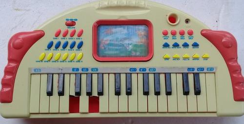 Teclado Infantil Musica E Jogo Funcionando Frete 20,00