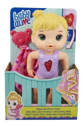 Boneca Baby Alive Coraçãozinho Loira Hasbro E6946 Original