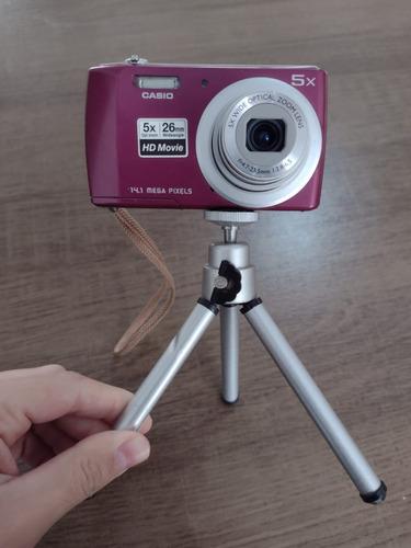 Câmera Casio Roxo 14.1 Mp Com Bateria
