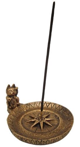 Incensário Buda Ou Gato Chinês Em Resina Decoração Esotérica