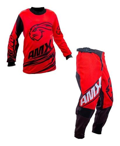 Roupa Motocross Trilha Infantil Calça camisa Amx Duo Vm
