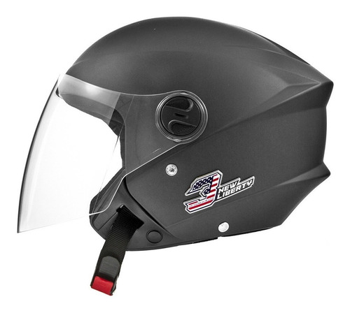 Capacete Para Moto  Aberto Pro Tork New Liberty  Three Elite  Matte Black Elite Tamanho 56
