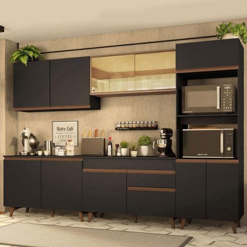 Cozinha Completa Madesa Reims 310001 Com Armário E Balcão
