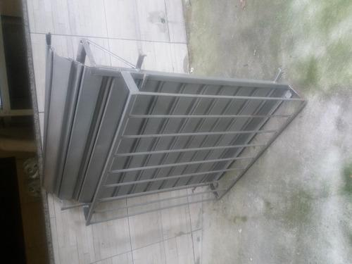 Porta Aço Inox 0,90cm X 1,00m Com Grade
